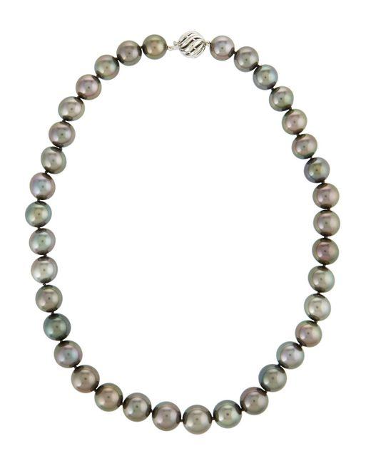 Belpearl | 14k Black Tahitian Pearl Necklace | Lyst