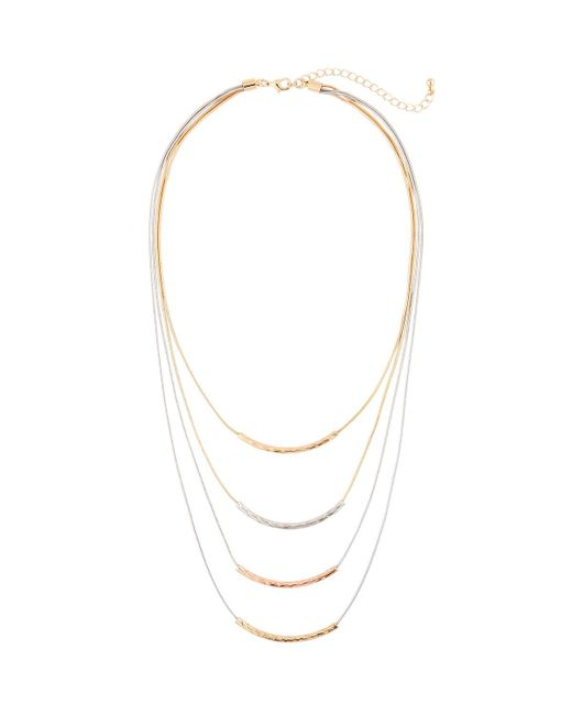 Kenneth Jay Lane | Metallic Layered Four-row Necklace | Lyst