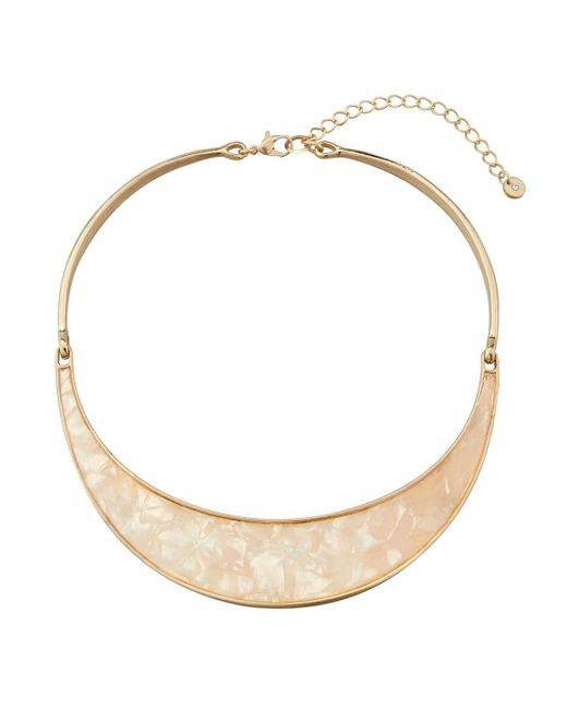 Lydell NYC | White Simulated Mother-of-pearl Collar Necklace | Lyst