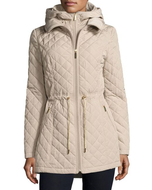 Laundry by Shelli Segal   Natural Mini-quilted Wind-resistant Jacket   Lyst