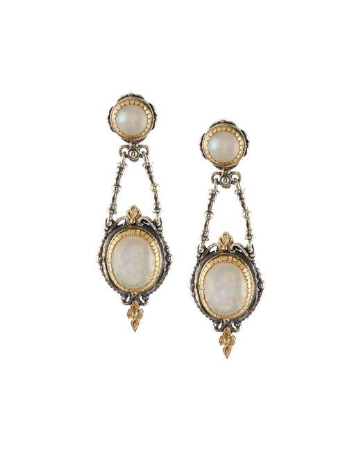 Konstantino | White Erato Mixed Labradorite Double-drop Earrings | Lyst