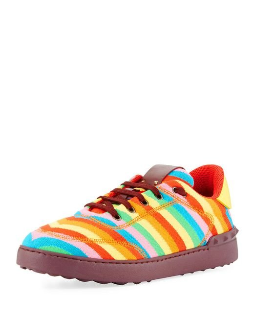 Valentino | Multicolor Men's Striped Fabric Sneaker for Men | Lyst