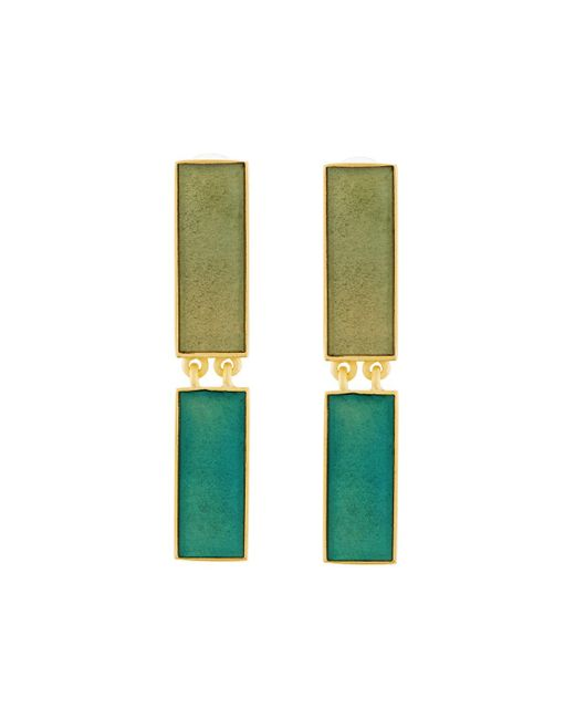Stephanie Kantis   Blue Heraldry Rectangular Aqua Resin Drop Earrings   Lyst