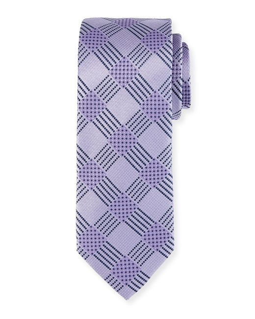 Bugatchi | Black Check-weave Silk Tie for Men | Lyst