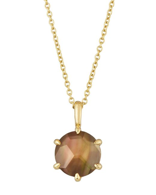 Ippolita | Metallic Rock Candy 18k Round Citrine Doublet Pendant Necklace | Lyst