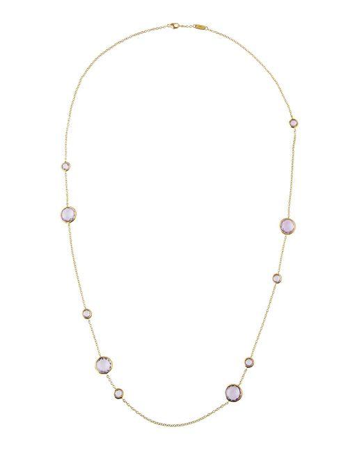 Ippolita   Purple Lollipop® 18k Amethyst Station Necklace   Lyst
