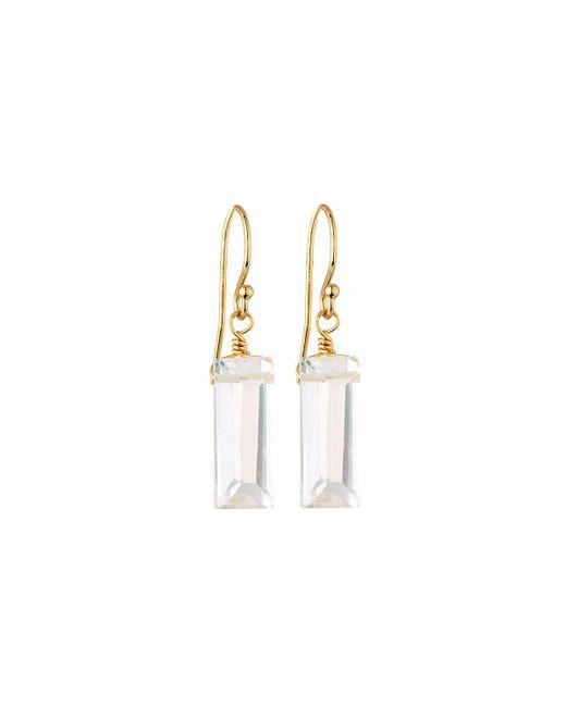 Lapis Lois | Metallic Clear Quartz Drop Earrings | Lyst