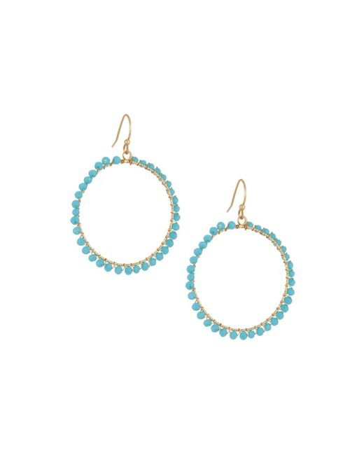 Panacea | Blue Wire-wrapped Crystal Circle Drop Earrings | Lyst