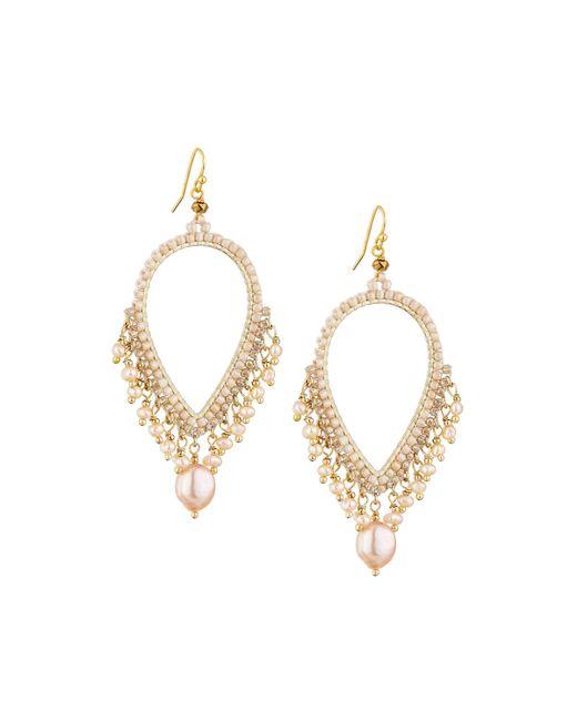 Nakamol | Metallic Pearly Dangle Earrings | Lyst