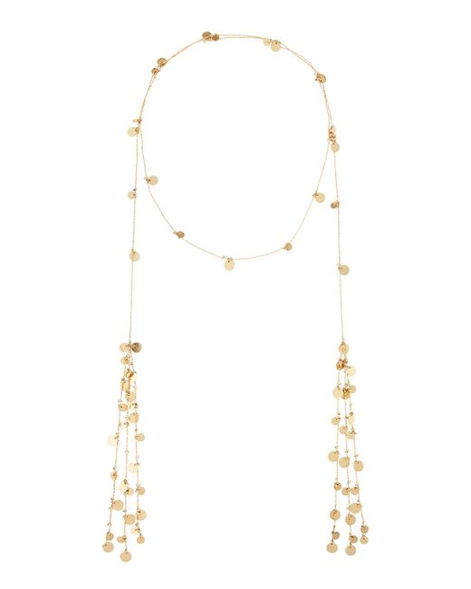 Lydell NYC - Metallic Long Chain-disc Lariat Necklace - Lyst