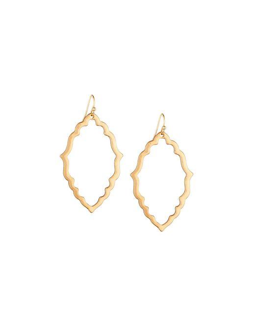 Panacea | Metallic Golden Textile Drop Earrings | Lyst
