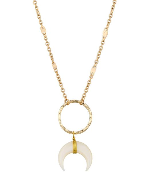 Panacea | White Wire-wrapped Horn Pendant Necklace | Lyst