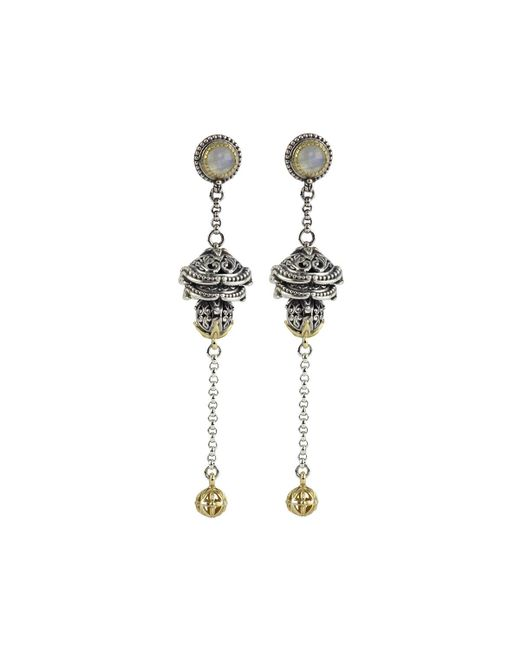 Konstantino | Gray Erato Ornate Bulb & Chain Labradorite Dangle Earrings | Lyst