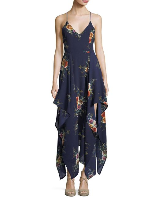 Haute Rogue   Blue Ammy Drapey High-low Dress   Lyst