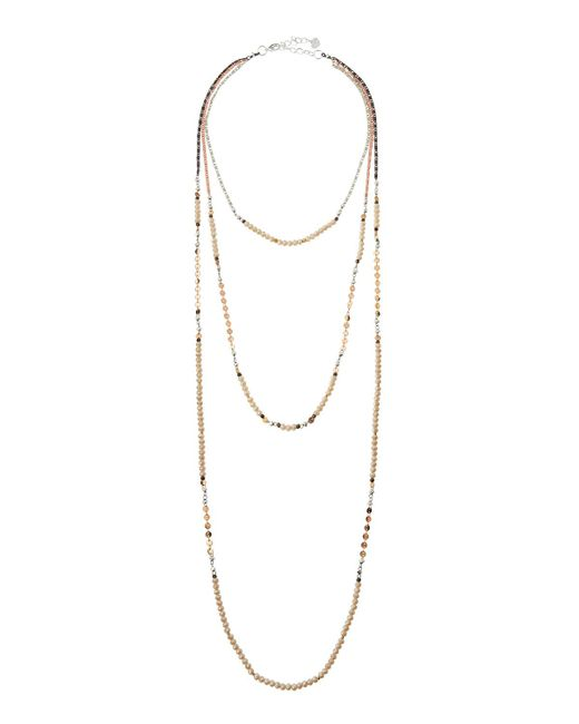 Nakamol | Natural Long Triple-strand Beaded Necklace | Lyst
