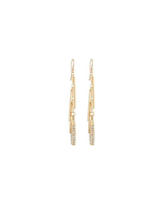 Devon Leigh | Metallic Diamond Illusion Pave Crystal Fringe Dangle Earrings | Lyst