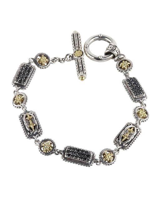 Konstantino | Metallic Asteri Pave Black Diamond Link Bracelet | Lyst
