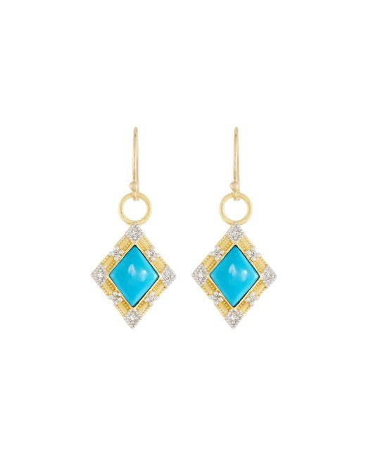 Jude Frances | Blue Lisse 18k Dangle/drop Earrings With Turquoise | Lyst
