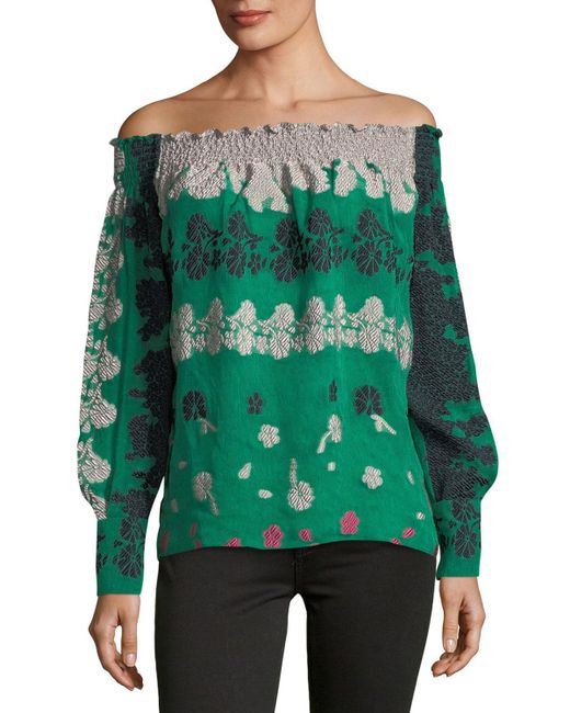 Yigal Azrouël | Green Daisy Top | Lyst