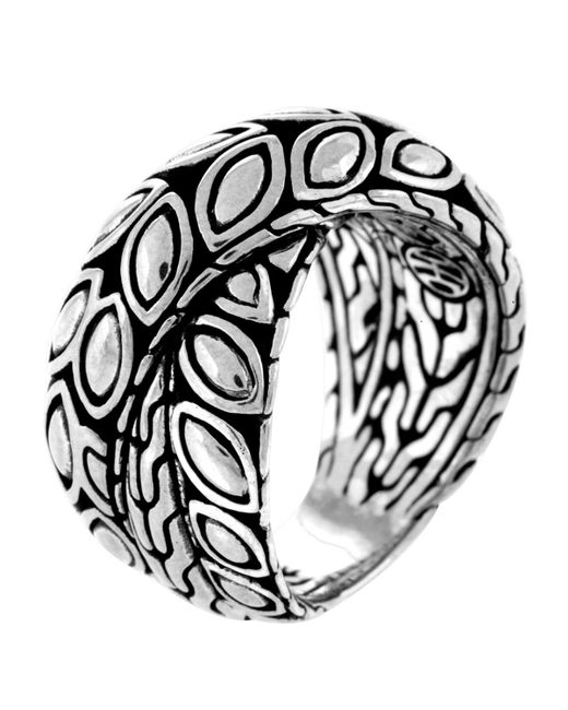 John Hardy - Metallic Padi Silver Twist Ring - Lyst