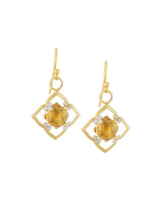 Jude Frances | Metallic 18k Champagne Citrine & Gray Diamond Flower Earring Charms | Lyst