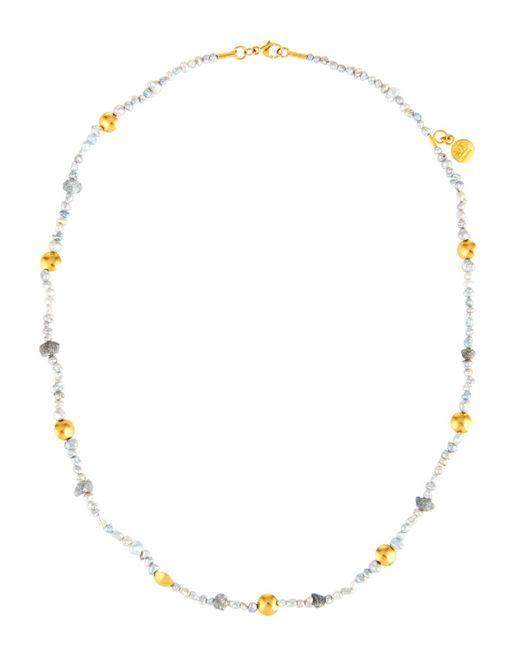 Gurhan - Metallic Delicate Hue Pearl & Diamond Necklace - Lyst