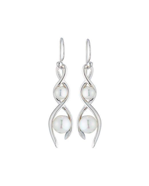Majorica | Largos White Pearl Drop Earrings | Lyst