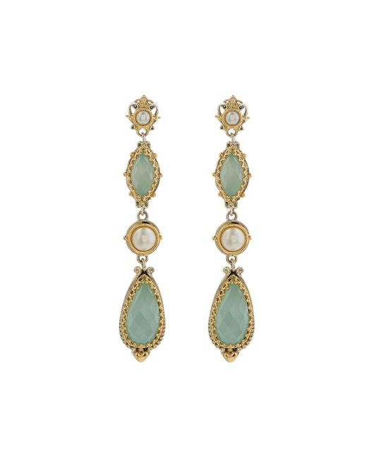 Konstantino - Blue Amphitrite Agate & Pearl Dangle Earrings - Lyst
