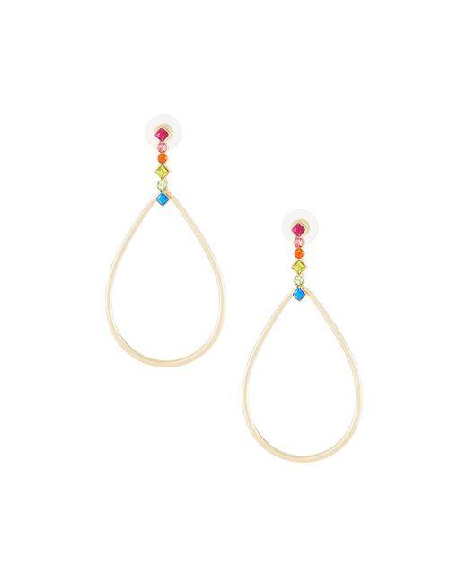 Fragments - Metallic Crystal Teardrop Earrings - Lyst