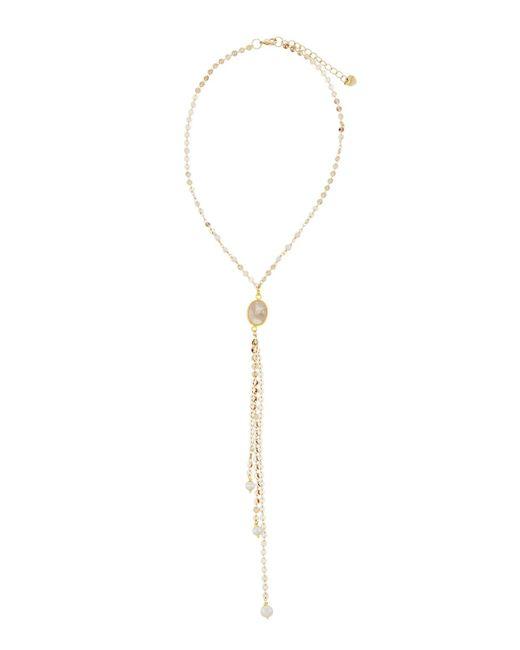 Nakamol | Metallic Disc Chain Y-drop Moonstone & Pearl Necklace | Lyst