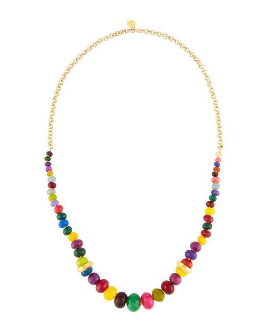 Devon Leigh - Multicolor Long Rainbow Agate Beaded Necklace - Lyst
