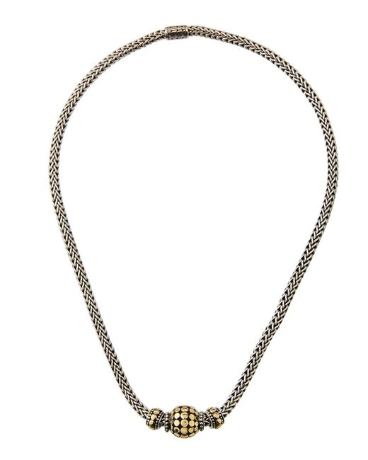 John Hardy - Multicolor Three-bead Dot Chain Necklace - Lyst