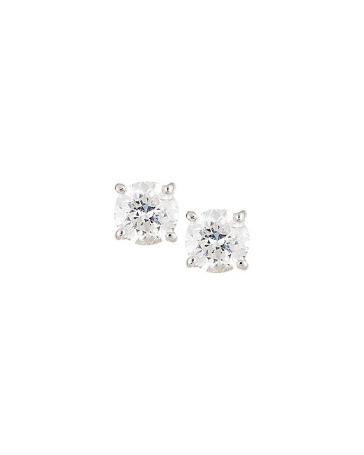 Neiman Marcus - 18k White Gold Round Diamond Solitaire Stud Earrings - Lyst