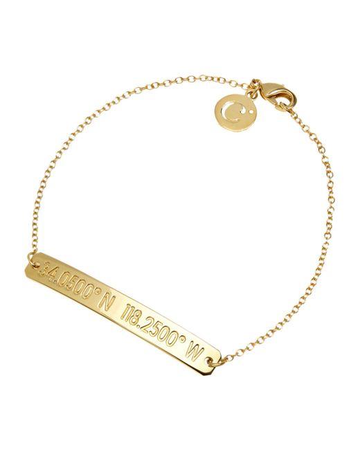 Coordinates Collection - Metallic 22k Gold-plated Nile Pendant Bracelet - Lyst