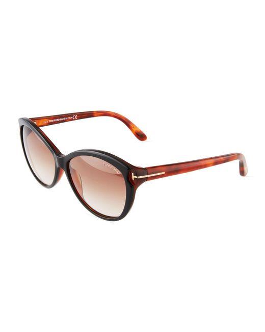 Tom Ford - Multicolor Oval Acetate Sunglasses - Lyst