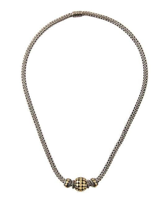 John Hardy - Multicolor Three-bead Dot Chain Necklace - Lyst