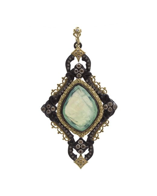 Armenta | Multicolor Old World Large Cross Doublet Pendant Enhancer W/ Mixed Diamonds | Lyst