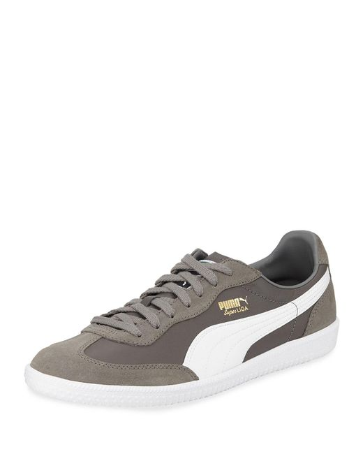 6cf7aa008a1 Lyst - PUMA Steel Grey Super Liga Og Retro Low-top Sneakers in Gray ...