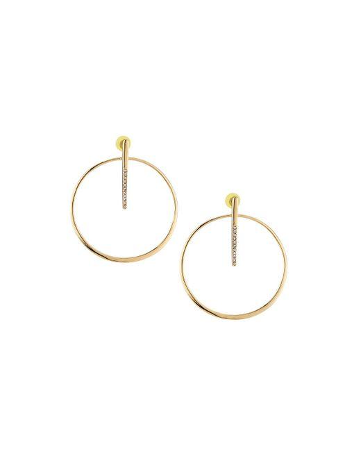 Lydell NYC - Metallic Post & Hoop Drop Earrings - Lyst