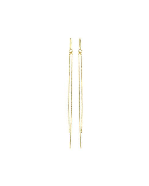 Kenneth Jay Lane | Metallic Double Bar Drop Earrings | Lyst