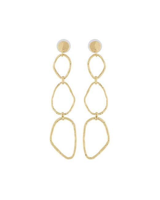 Lydell NYC - Metallic Linear Link-drop Earrings - Lyst