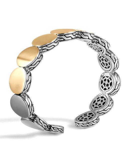 John Hardy - Metallic Dot Silver & Gold-plate Flex Cuff 13.5mm - Lyst