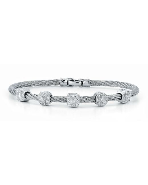 Alor - Metallic Pave Diamond Five-station Cable Bracelet - Lyst