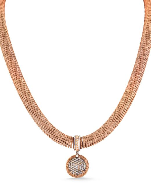 Alor - Multicolor 18k Spring Coil Diamond Pendant Necklace - Lyst