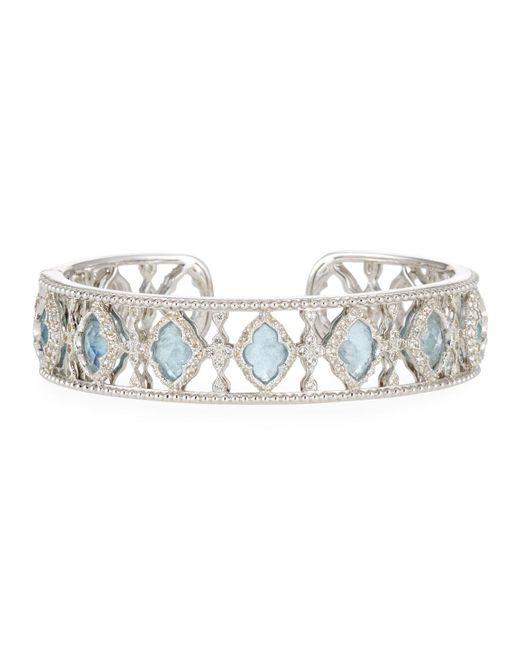 Jude Frances - Metallic Moroccan-stone Cuff Bracelet - Lyst