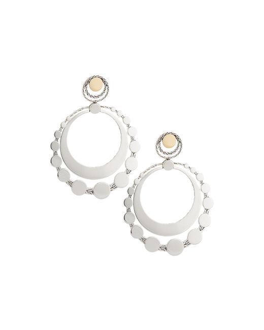 John Hardy - Metallic Dot Deco Large Round Drop Earrings - Lyst