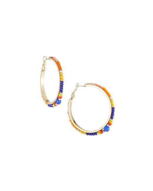Nakamol - Blue Multicolor Bead Hoop Earrings - Lyst