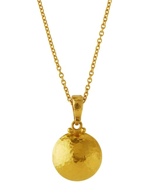 Gurhan | Metallic 24k Lentil Pendant Necklace | Lyst