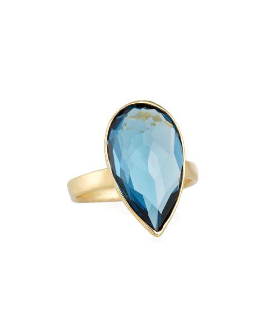 Ippolita - 18k Rock Candy® Medium Teardrop Ring In London Blue Topaz Size 7 - Lyst
