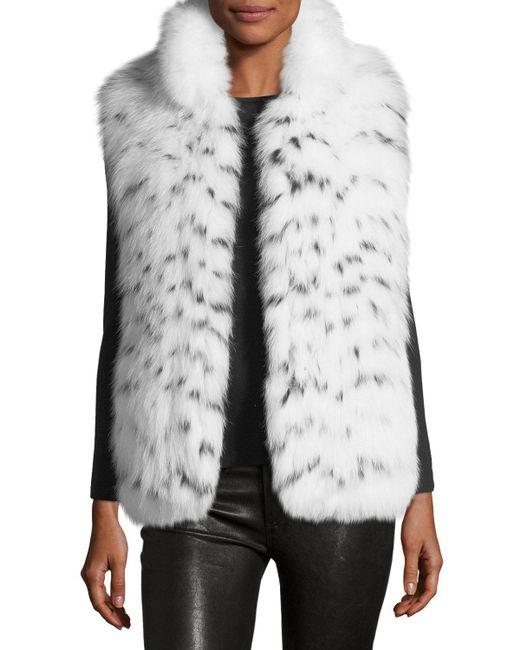 Gorski - Gray Fox Fur Vest - Lyst